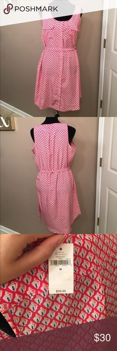 Gap tunic Cute airy tunic. NWT GAP. Hot pink and blue . Comes to above the knee. GAP Dresses Mini