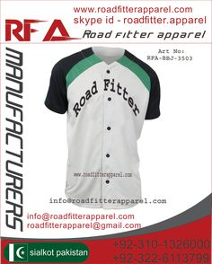 Baseball Uniform  Custom Jersey Panel Work Made of 100% polyester Heavy Fabric gsm/260 Customer logo  Player name and number ( Screen Printing / Tekal  Twill Embroidery)  Price: $ 10.35 http://www.roadfitterapparel.com        info@roadfitterapparel.com