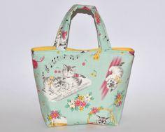 Girl's Bag, Mini Tote Bag, Kids Bag, Handbag for Girls, Cute Kitten Fabric, Musical Fabric, Cute Bag for Girls, Music Bag, Gift for Girls by RachelMadeBoutique on Etsy https://www.etsy.com/listing/270065327/girls-bag-mini-tote-bag-kids-bag-handbag