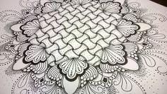 Zentangle Mandala close-up 2