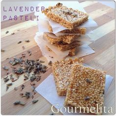 Lavender Pasteli Middle Eastern Dishes, Greek Cooking, Greek Dishes, Edible Flowers, Greek Recipes, Kitchen Recipes, Fudge, Sweet Treats, Lavender