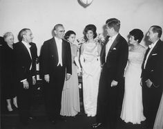 AR6521-B. Prime Minister of Greece Konstantine Karamanlis, First Lady Jacqueline Kennedy, President John F. Kennedy and Others at Greek Embassy Dinner - John F. Kennedy Presidential Library & Museum