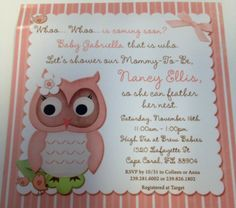My baby shower invites.