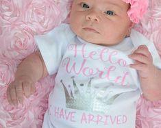 Newborn Girl Birth Stats...newborn girl pink by TheNewBabyBoutique