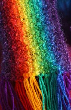 """Wear Rainbow Scarf - Catch The Rainbow And Live With It"""