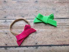 Itty Bitty Bias tape mini bows single loop tied headbands nylon ONE school girl by ShopSassyBabes on Etsy https://www.etsy.com/listing/264662750/itty-bitty-bias-tape-mini-bows-single