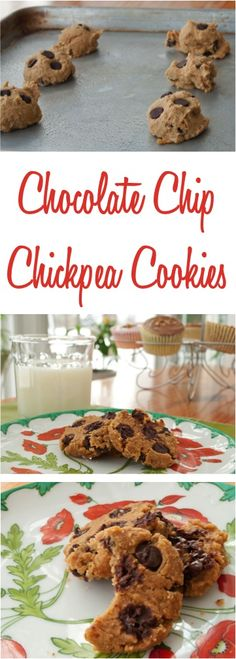 Chocolate Chip Chickpea Cookies - Give your dessert a Skinny Dessert makeover with this healthy dessert recipe!  So yummy! | TheFrugalGirls.com