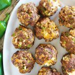 Hubby Loved these. :) All the flavors of jalapeno poppers wrapped up into a tasty meatball with a surprise cheese-filled center. Meatball Recipes, Beef Recipes, Cooking Recipes, Healthy Recipes, Meatball Bake, Smoker Recipes, Yummy Recipes, Cheese Stuffed Meatballs, Stuffed Mushrooms