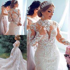 Wedding Dress Train, Luxury Wedding Dress, Lace Mermaid Wedding Dress, Bridal Lace, Wedding Lace, Plus Size Wedding Gowns, Long Wedding Dresses, Cheap Wedding Dress, Bridal Dresses