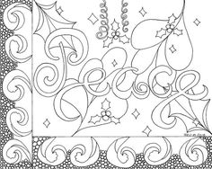 Christmas Coloring Page Peace Instant PDF By Wordsremember On Etsy Coloringpage Doodle