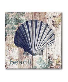 Clam Seaside Canvas Art #zulily #zulilyfinds
