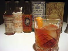 """Recipe: The Old Hickory - 1 ½ oz Carpano Antica Formula Vermouth, 1 ½ oz Dolin Blanc or Dry, 2 dashes Peychaud's Bitters, 2 dashes Orange Bitters... Combine bitters and vermouth in an Old Fashioned glass, add 3-4 Kold Draft or equivalent 1"""" square ice cubes, and stir with bar spoon for 15 seconds. Extract oils orange twist above drink and garnish."""
