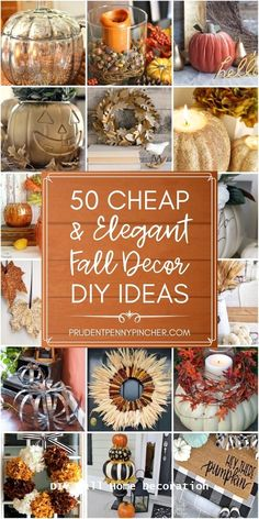 diy fall decor From DIY mercury glass pumpkins to pottery barn inspired fall centerpieces, there are plenty of elegant fall decorations that won't break the bank. Elegant Fall Decor, Fall Crafts For Adults, Pottery Barn Inspired, Fall Projects, Diy Projects, Diy Décoration, Diy Crafts, Lodge Decor, Fall Diy