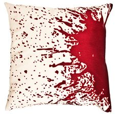 blood splatter pillow!