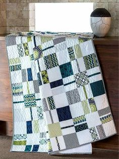 Clean lines and Masculine Quilt