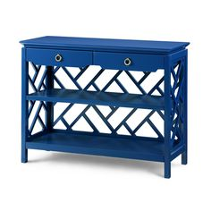 Nantucket Console Table, Navy Blue - Bungalow 5