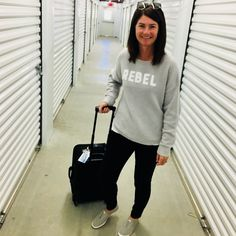 Travel like a Rebel Just call me a travel #rebel. #ShopStyle #SpringStyle #TravelOutfit #OOTD