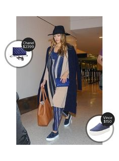 Jessica Alba Lax Airport - seen in Vince and carrying Chanel. #chanel #vince  #jessicaalba @mode.ai