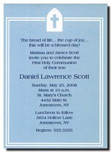 Cross in Blue First Holy Communion Invitations Holy Communion Invitations, First Holy Communion, Confirmation, Invites, Gem, Events, Party, Blue, Ideas