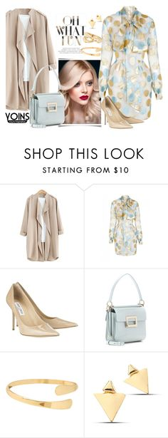"""""""Yoins"""" by autumn-soul ❤ liked on Polyvore featuring The 2nd Skin Co., Jimmy Choo and Roger Vivier"""