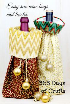 handmade wine bags