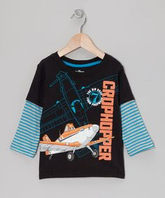 This Black & Blue 'Crophopper' Layered Tee - Toddler by Disney•Pixar Planes is perfect! #zulilyfinds