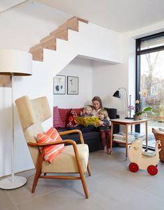 Selvom boligen i Aalborg er mindre end den familien boede i i København, så er der alligevel plads til hele familien. Foto: Andreas Mikkel H...