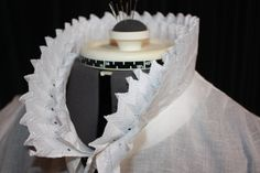 Collar frill detail - making a Regency chemise as in Janet Arnold POF 1