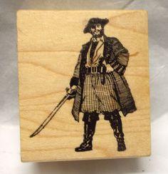 Pirate Graphic rubber stamp Pirates sword Ocean Man Men Male images nautical #GraphicRubberStamp #MenManPirate