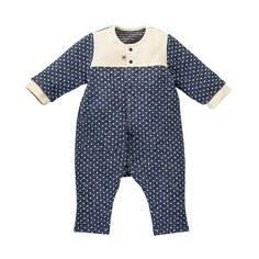 Woven Playsuit - Navy