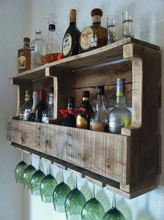 cider wood alcohol rack | Rustic Wine Rack Extra Wide Liquor Rack by GreatLakesReclaimed, $109 ...