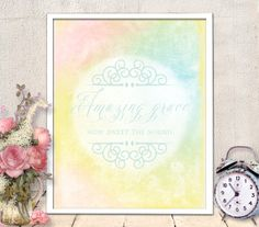 Christian Verse Art - amazing grace print, nursery art, printable nursery, nursery quote,  Inspirational Quote, INSTANT DOWNLOAD (83)