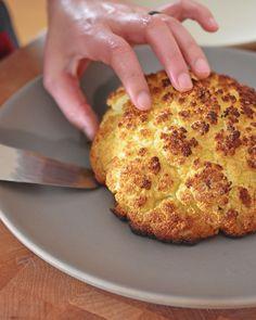 "Whole Roasted Cauliflower by Michelle Tam http://nomnompaleo.com ""Repinned by Keva xo""."