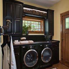 Sexxy Laundry room - Makes me wanna DO laundry! Laundry Room by .My dream laundry room! Laundry In Bathroom, Laundry Rooms, Small Laundry, Basement Laundry, Mud Rooms, Laundry Area, Compact Laundry, Laundry Baskets, Laundry Shelves