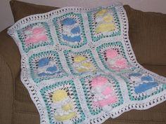 Crochet Baby Blankets for Girls   Little Country Girl Crochet Afghan Pattern