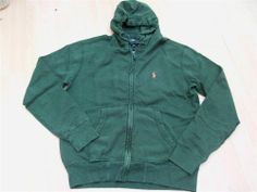 Polo Ralph Lauren French terry Cleveland hoodie green or navy RRP £125 REDUCED