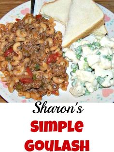 Simple Goulash recipe, which allows you to add extra flavours if you wish, or keep it simple. Whatever you decide, it will always be tasty! Here Sharon has served her Goulash with a delicious Cauliflower & Pea Salad. Recipe by Sharon Jackson. Delicious Dinner Recipes, Great Recipes, Favorite Recipes, Yummy Food, Easy Goulash Recipes, Hamburger Recipes, Chili Recipes, Recipes With 1lb Ground Beef, Cooking On A Budget