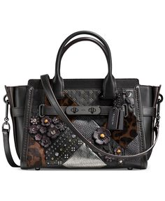 6d662abd3817d COACH Embellished Canyon Quilt Coach Swagger 27 in Pebble Leather   Reviews  - Handbags   Accessories - Macy s