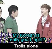 Chen trolling as always. I laughed so much when I was watching the episode.