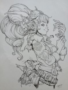 Pin by alison leboeuf on drawing in 2019 art sketches, art drawings, charac Cartoon Drawings, Cool Drawings, Drawing Sketches, Sky Doll, Arte Robot, Illustration, Cyberpunk Art, Character Design Inspiration, Art Reference