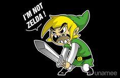 I'm not Zelda T-Shirt $11 Legend of Zelda tee at Unamee today only!