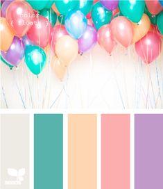 Teal + purple + pink
