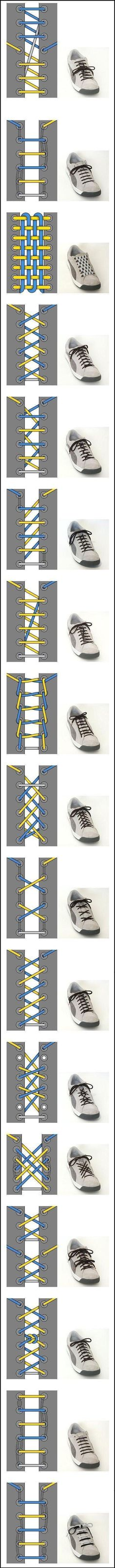 Different Style of Shoe Lace