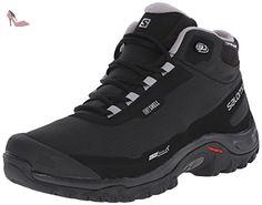 Salomon  Shelter CS WP, Chaussures de trekking et randonnée homme - Noir - Schwarz (Black/Black/Pewter), 46 - Chaussures salomon (*Partner-Link)