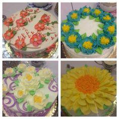 Cakes from our Senior Lunch!  Hello Spring!!  #cakes #seniorlunch #springideas