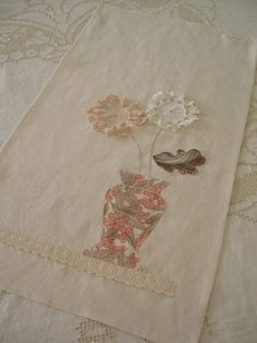 Granny Chic Vintage Doily TEA TOWEL by VintageHome on Etsy