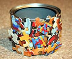 You'll be happy to know that you can use those old puzzle pieces in crafts. On How to Make Crafts: Using Puzzle Pieces you'll find over 30 ideas that you'll want to try. Site names and tutorials also. Autism Crafts, Vbs Crafts, Camping Crafts, Fun Crafts For Kids, Diy Arts And Crafts, Preschool Crafts, Crafts To Make, Paper Crafts, Camping Ideas