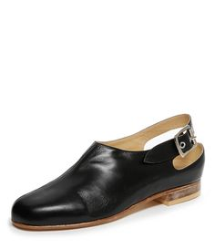 e2166945c688 The Pirate Slingback is a comfortable and distinctive unisex shoe. With the  upper crafted in black leather
