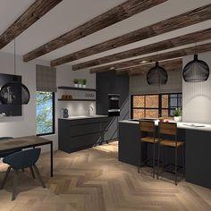 Visual of a new kitchen. #kitchendesign #kitchendecor #appartment #visgraat #blackkitchen #interiortrends #interiordecoration #interiordesigninspiration