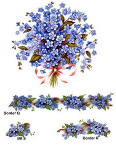 Forget-Me-Nots - Blue Decal